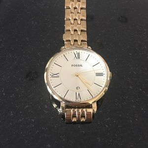 Jacqueline Gold Fossil Watch